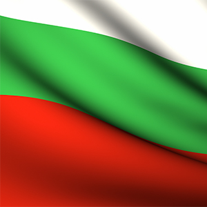 Flying Flag of Bulgaria . All Countries Collection .